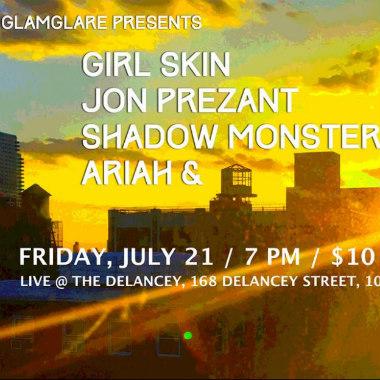 Glamglare Presents Ariah & at The Delancey