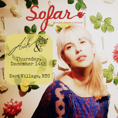 Sofar Sounds NYC Presents Ariah &